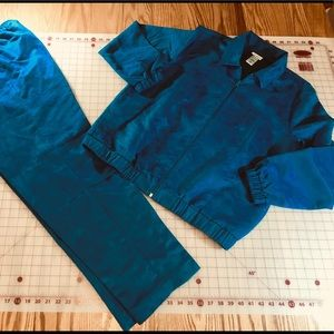 25% off 3, pants set, beautiful blue micro suede.